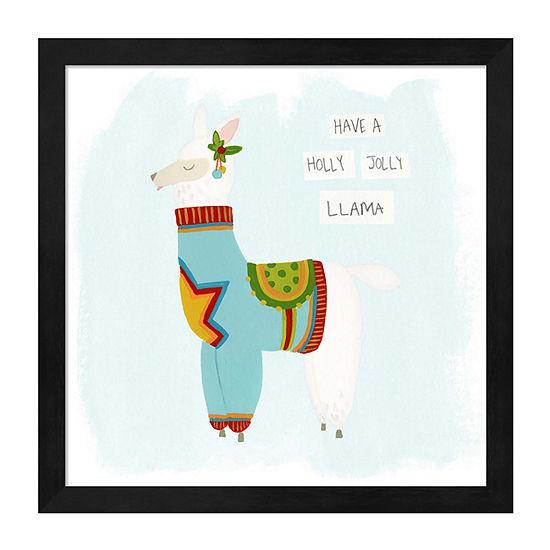 Metaverse Art Fa-la-la-la Llama IV Framed Wall Art