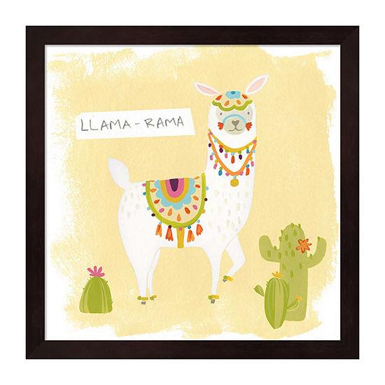 Metaverse Art Pom Pom Llama Rama III Framed Wall Art