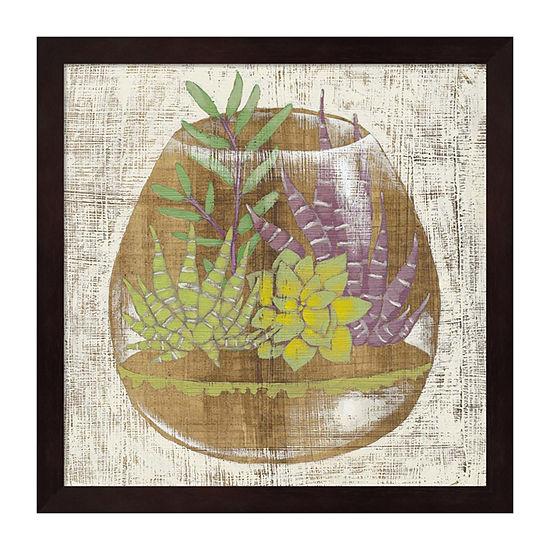 Metaverse Art Glass Garden II Framed Wall Art