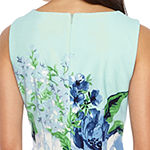 Studio 1 Sleeveless Floral Sheath Dress
