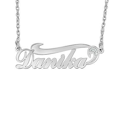 Womens Diamond Accent Genuine White Diamond 10K White Gold Pendant Necklace