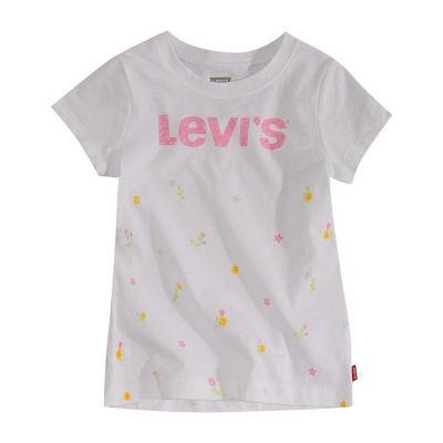 Levi's Girls Crew Neck Short Sleeve T-Shirt-Baby