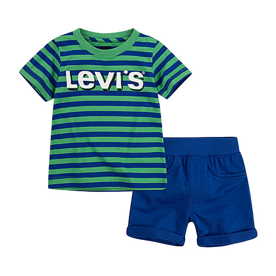 Levi's 2-pc. Short Set Baby Boys