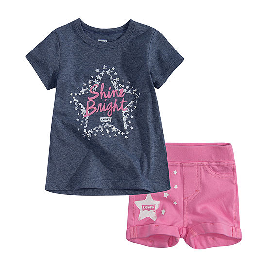Levi's Baby Girls 2-pc. Pant Set