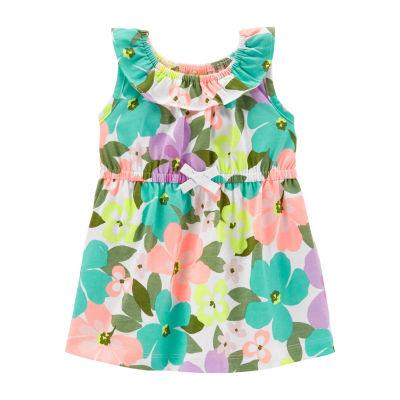 Carter's Sleeveless Floral A-Line Dress Girls