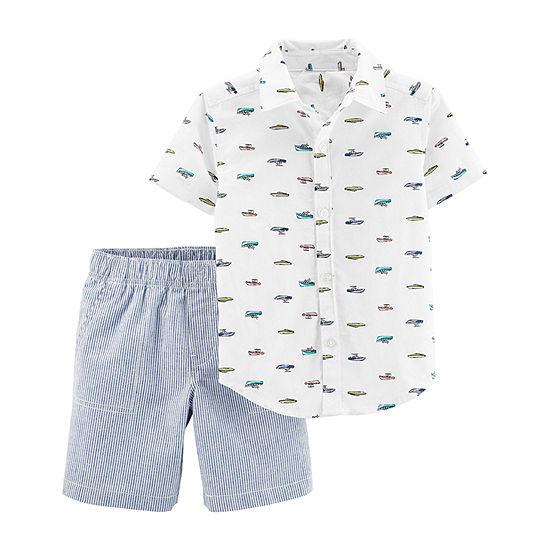 Carters 2 Pc Short Set Baby Boys