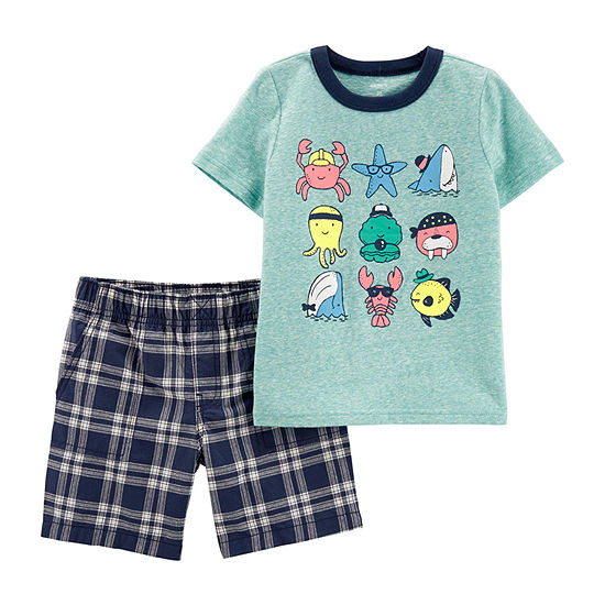Carters 2 Pc Short Set Baby Boys