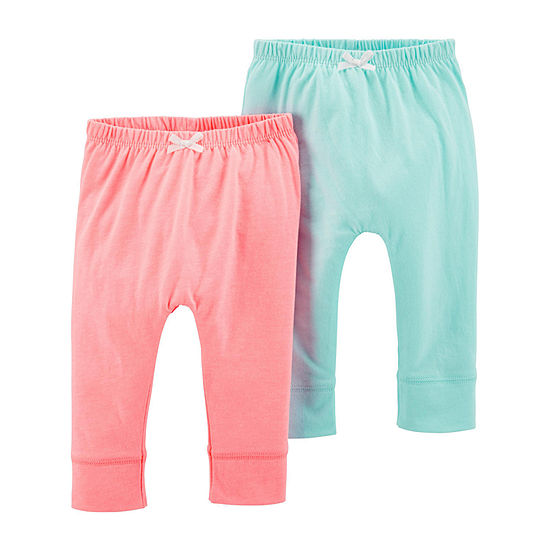 Carter's 2-Pk. 2-pc. Girls Pull-On Pants - Baby