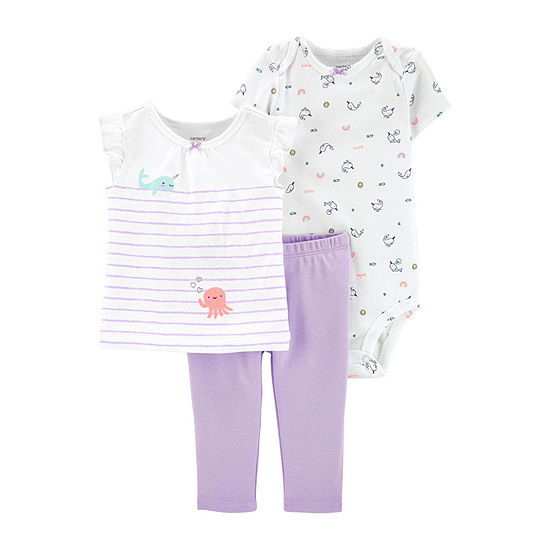 Carter's 3-pc. Baby Clothing Set-Baby Girls