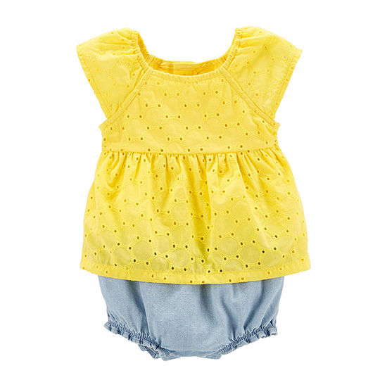 Carter's Eyelet Short Sleeve Romper - Baby Girls
