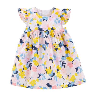 Carter's Sleeveless Flutter Sleeve Floral A-Line Dress - Baby Girls