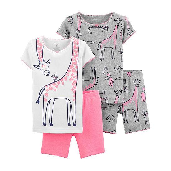 Carter's Snug Fit Cotton 4-pc. Pajama Set Baby Girls