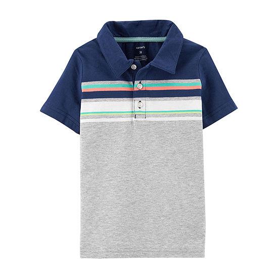 Carters Boys Button Down Collar Short Sleeve Polo Shirt Baby