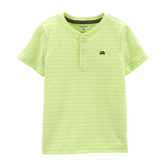 Carters Boys Short Sleeve Henley Shirt Baby