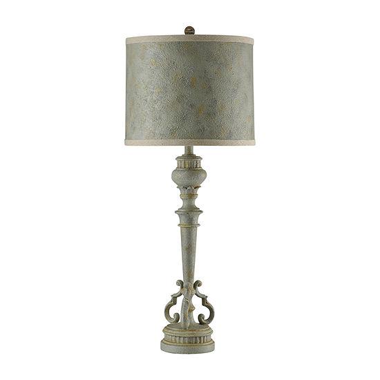 Stylecraft 15 W Barcelona Blue Polyresin Table Lamp