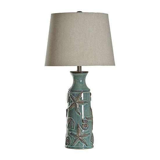 Stylecraft 15 W Blue Bay Ceramic Table Lamp