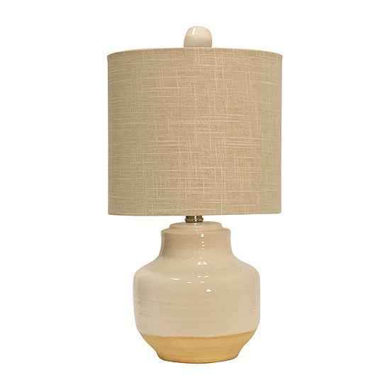 Stylecraft 10 W Prova Cream Ceramic Table Lamp
