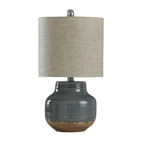 Stylecraft 10 W Prova Grey Ceramic Table Lamp