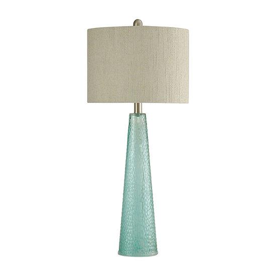 Stylecraft 12.5 W Blue Glass Table Lamp