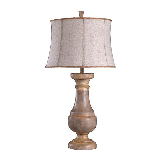 Stylecraft 17 W Light Brown Polyresin Table Lamp