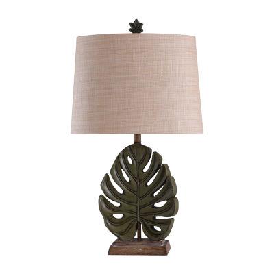Stylecraft 18 W Green & Brown Polyresin Table Lamp