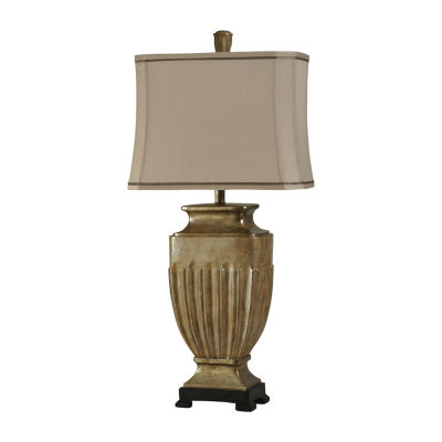 Stylecraft 17.5 W Tan Polyresin Table Lamp