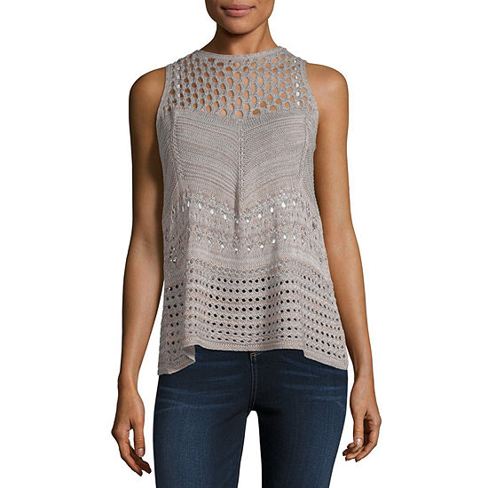 a.n.a Not Applicable Womens Crew Neck Sleeveless Tank Top