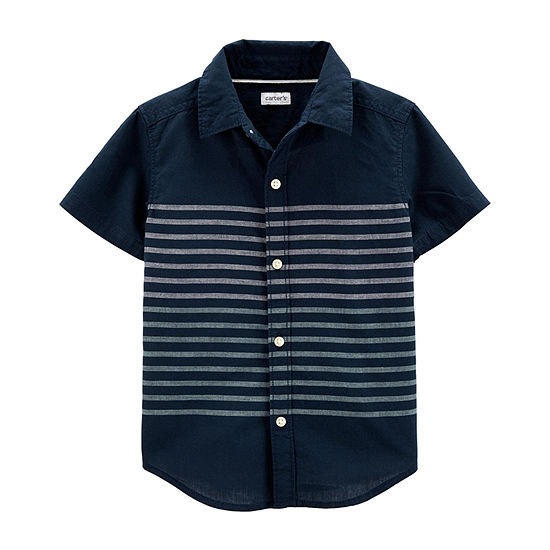 Carter's Boys Short Sleeve Button-Front Shirt Baby