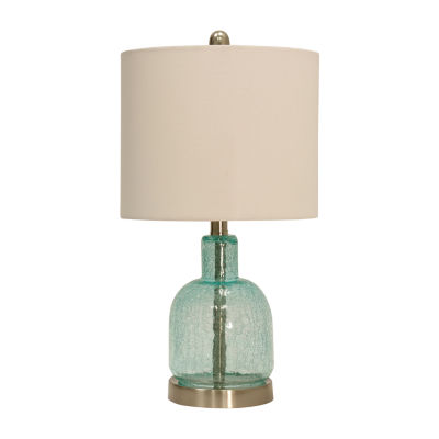 Stylecraft 11 W Brown Glass Table Lamp