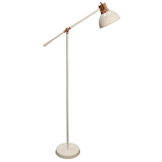 Stylecraft 9.9 W White Metal Floor Lamp
