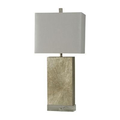 Stylecraft 15 W Silver Wood Polyresin Table Lamp
