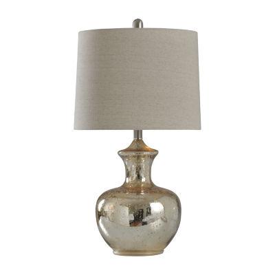 Stylecraft 14 W Silver Mercury Glass Table Lamp