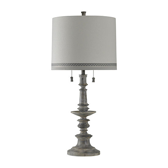 Stylecraft 16 5 W Washed Gray Polyresin Table Lamp