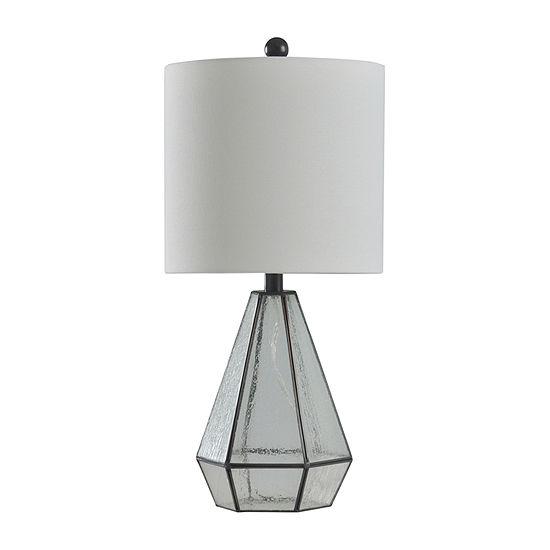 Stylecraft 11 W Aged Bronze Glass Table Lamp