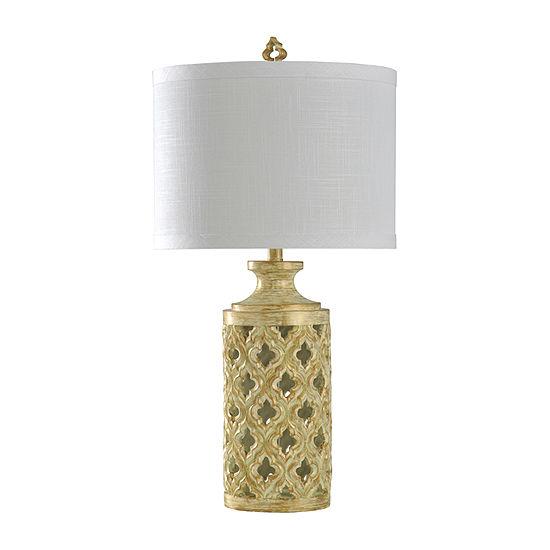 Stylecraft 16.5 W Ivory Polyresin Table Lamp