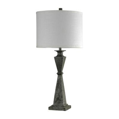 Stylecraft 18 W Black Polyresin Table Lamp