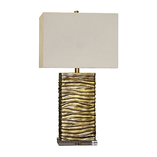Stylecraft 16.5 W Gold Polyresin Table Lamp