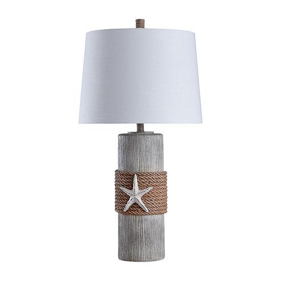 Stylecraft 17 W Grey & Brown Polyresin Table Lamp