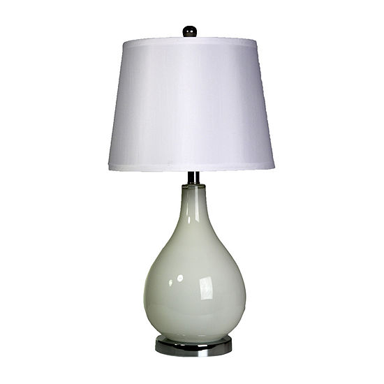 Stylecraft 14 W Off White Glass Table Lamp
