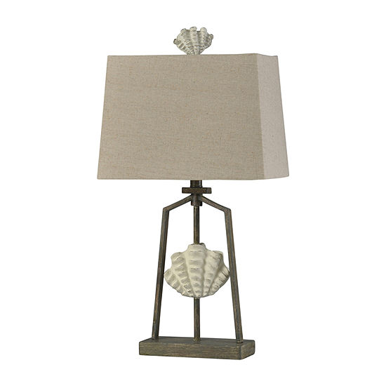 Stylecraft Catalonia 14 W Cream & Brown Iron Table Lamp
