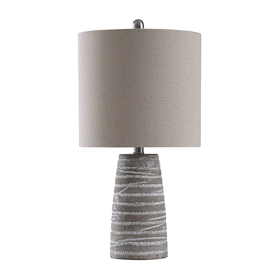 Stylecraft 12 W Gray Washed Ceramic Table Lamp