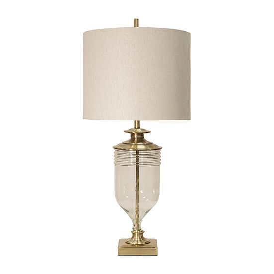 Stylecraft 18 W Gold & Clear Glass Table Lamp