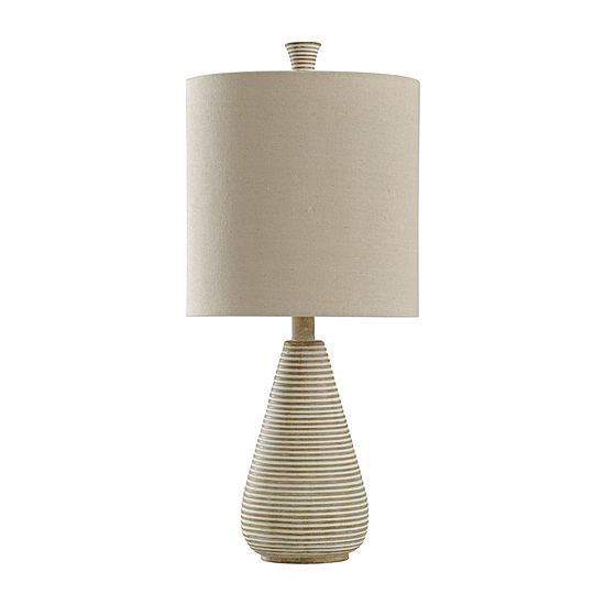 Stylecraft 10.5 W Beige Polyresin Table Lamp
