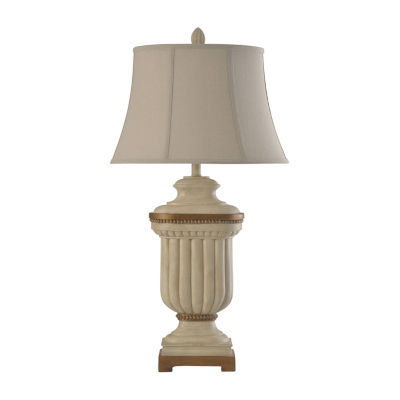 Stylecraft 18 W Summerhill Cream Polyresin Table Lamp