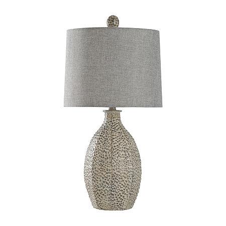 Stylecraft 14 W Bokava Polyresin Table Lamp, One Size , Beige