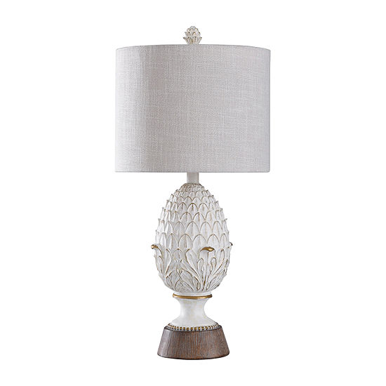 Stylecraft 12.75 W Off-White Polyresin Table Lamp