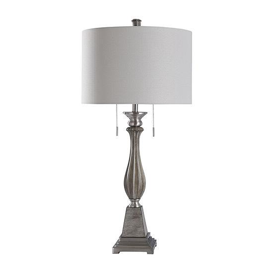 Stylecraft Finn Café 18 W Gray Polyresin Table Lamp