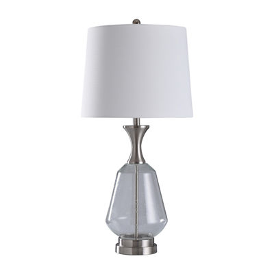 Stylecraft Kendal 16 W Steel Glass Table Lamp