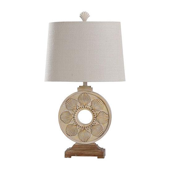 Stylecraft Lindau 18 W Cream Polyresin Table Lamp