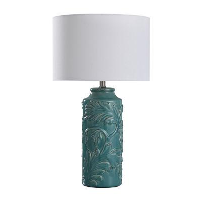 Stylecraft Mirfield 14 W Turquoise Ceramic Table Lamp